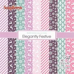 Sada papírů Elegantly Festive 15x15