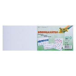Dopisní kartičky dvojlisté A6 na šířku, 100ks bílé
