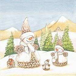 Sněhuláci ze šišek 33x33