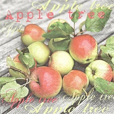 Jablíčka na dřevě 33x33