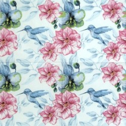 Květy a kolibřík 33x33