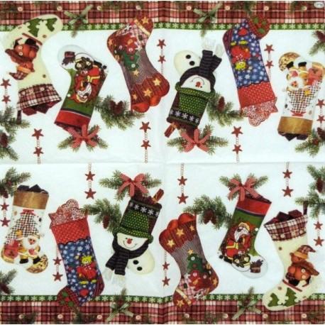 Vánoční ponožky 33x33