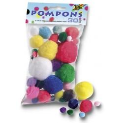 Pompony 30ks, mix velikostí a barev (F)