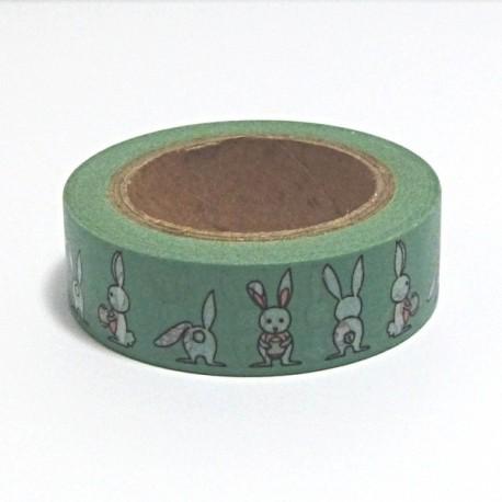 Papírová páska 15mm/10m - Zajíčci