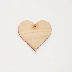 Srdce dřevěné k zavěšení - 6,5x6,5 (laser)
