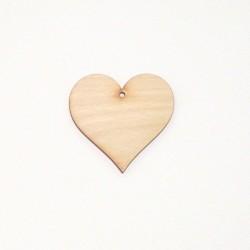 Srdce dřevěné k zavěšení - 5x5 (laser)
