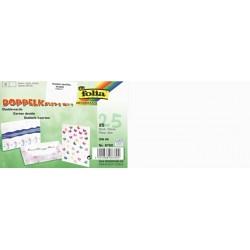 Dopisní kartičky dvojlisté A6 na šířku, 25ks bílé