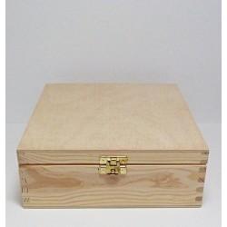 Krabička na čaj 9 komor (se zámečkem) čtvercová