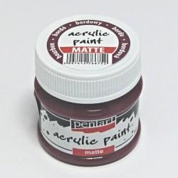Akrylová barva Pentart 50ml - bordó, matná