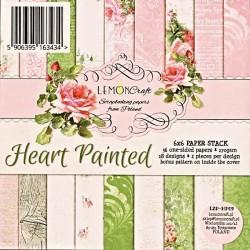 Sada papírů Malované srdcem 15x15