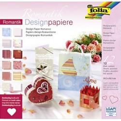 Blok designových papírů 30,5x30,5cm Romantik (F)