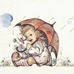 Dívka s deštníkem 33x33