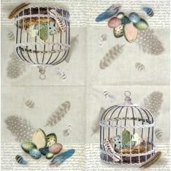 Ptačí hnízdo v kleci 33x33