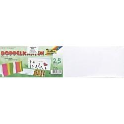 Dopisní kartičky dvojlisté dlouhé na šířku, 25ks bílé (F)