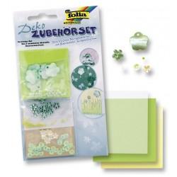 Kreativní doplněk - Zelené květinky (F)