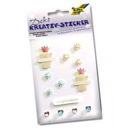 Kreativní samolepky Květináčky (F)