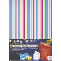 Sada Pastelové proužky - 5ks transp.papírů (F)