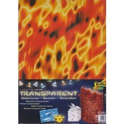 Sada Plameny - 5ks transp.papírů (F)