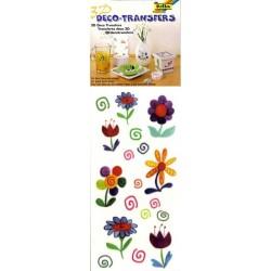 3D Deko transfers samolepky - Květinky (F)