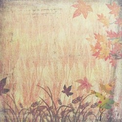 Podzimní tóny 30,5x30,5 designový papír (F)