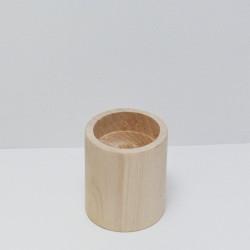 Dřevěný svícen malý (kulatý) NEM