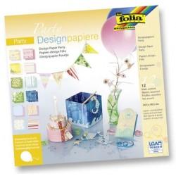 Design.papír v bloku - Párty, 30,5x30,5cm, 12 listů (F)