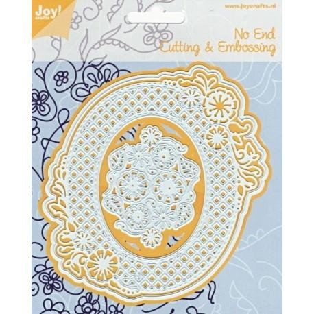 Vyřezávací šablony - krajkový rámeček s květinami