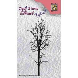 Transp.razítko Silueta - holý strom č.1 (Nellie Snellen)