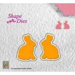 Vyřezávací šablony - zajíčci (Shape Dies)