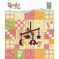 Vyřezávací šablona - Baby závěs nad postýlku (Dada Dies)