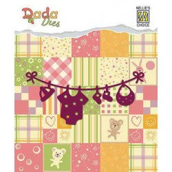 Vyřezávací šablona - Baby prádýlko (Dada Dies)