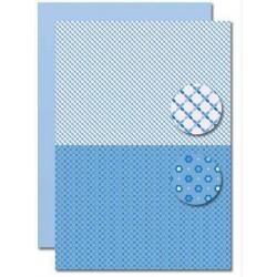 Papír na pozadí A4 - Baby modrý, slunce
