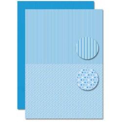 Papír na pozadí A4 - Baby modrý, puntíky