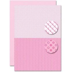 Papír na pozadí A4 - Baby růžový, slunce
