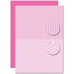 Papír na pozadí A4 - Baby růžový, puntíky