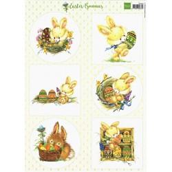 Papír Velikonoce A4 se zajíčky (MD)