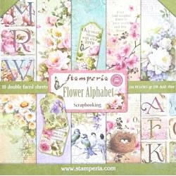 Sada papírů 30,5x30,5 170g Flower Alphabet