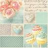 Růže a dortíky na písmu 33x33