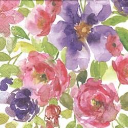 Akvarel květy 33x33