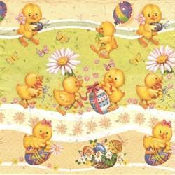 Šťastná malá kuřátka 33x33