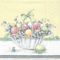 Košík s vajíčky a pomněnkami 33x33