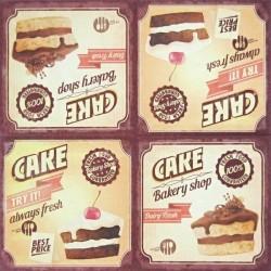 Čokoládové dortíky 33x33