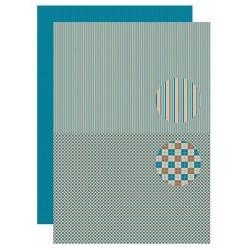 Papír na pozadí A4 - Pro muže, čtverce, proužky