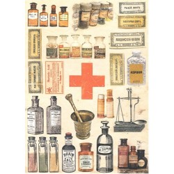 Rýžový papír A4 Vintage Pharmacy