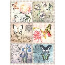 Rýžový papír A4 Květiny a hmyz