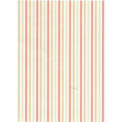 Rýžový papír A4 Svislé pruhy, zelený, modrý, červený