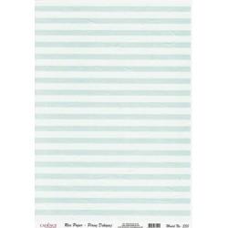 Rýžový papír A4 Vodorovné pruhy, světle modré