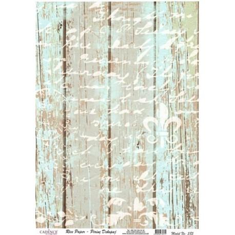Rýžový papír A4 Modré dřevo, bílé písmo