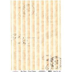 Rýžový papír A4 Svislé pruhy, razítka, písmo