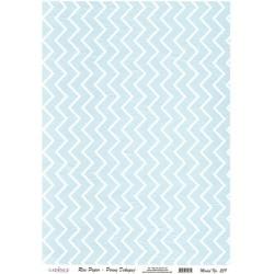 Rýžový papír A4 cik cak vzor na modré